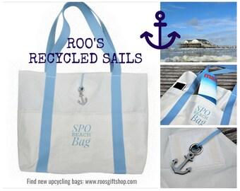 Beach bag | Beach Bag | Original sail | Bath bag | Bag | Upcycling | Sailing bag | SPO | St. Peter Ording