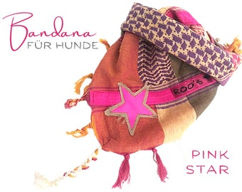 Dogs Neck Scarf | Bandana | Triangle Cloth | for binding | colorful | Fringe | Star | Pink | Vintage BOHO Style |  Cloth scarf choker | Fashionable