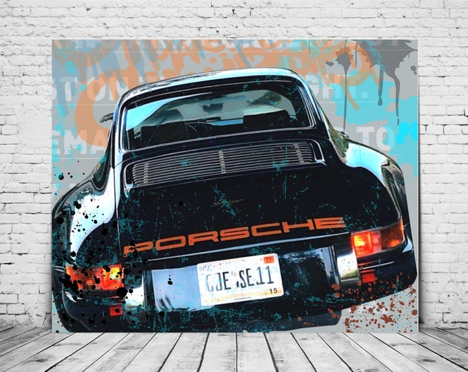 Porsche 911 Art Print | Digital Print | Car Art | Car Poster | Art Print | Sports car | Gift for Men | Porsche Picture | 911s