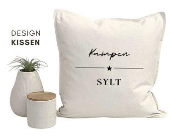 Design Pillow | Kampen Sylt | Cotton pillowcase | Strandhaus | Beach Coastal Living | Nordic style | maritime decoration