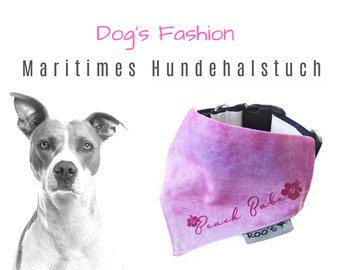 "Maritime Dog NeckCloth ""Beach Babe"" 