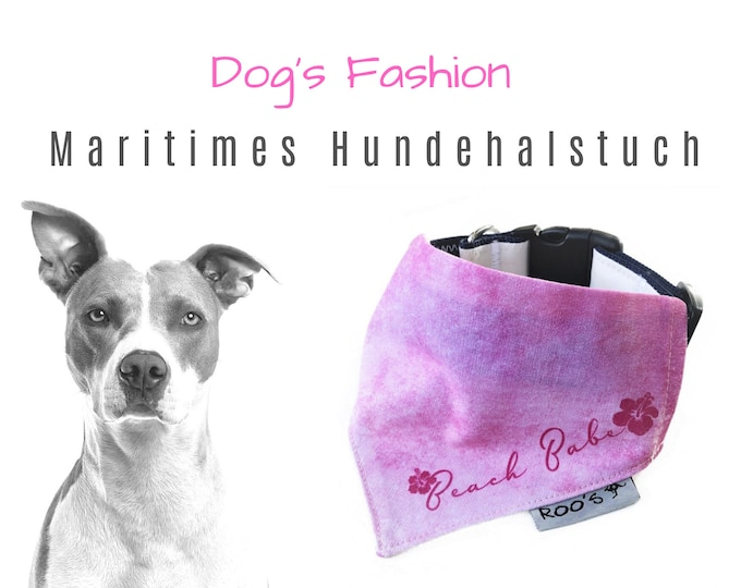 """Maritime Dog NeckCloth """"Beach Babe"""" 