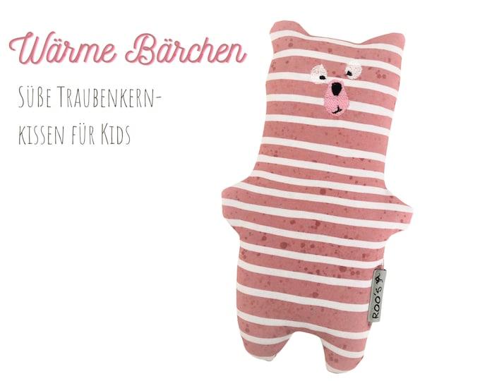 Large grape seed pillow   Bear   Grain Pillow for Babies & Kids   soft bear as a warming cuddly pillow