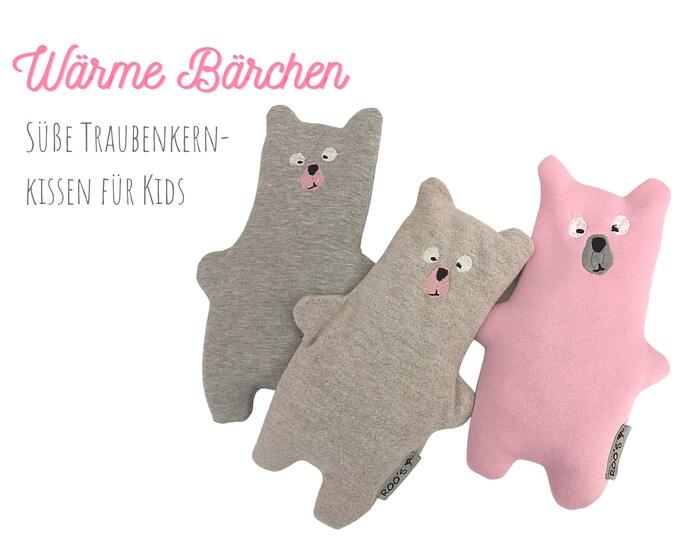 Large grape seed pillow   Bear   Grain Pillow for Babies & Kids   soft bears as a warming cuddly pillow