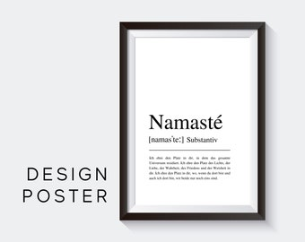 Design Poster | NAMAS's | German Definition Dictionary | Digital Print | Typo Image | Art print | Duden Phonetic | Yoga Greeting