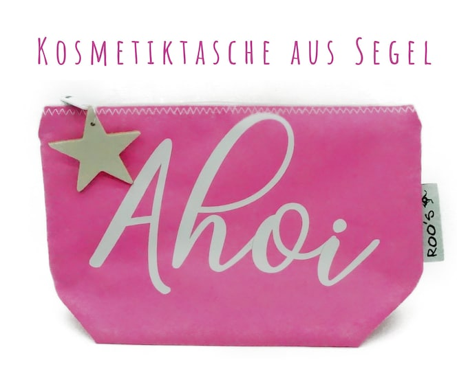"""Pink cosmetics bag from sail """"Ahoi"""" 