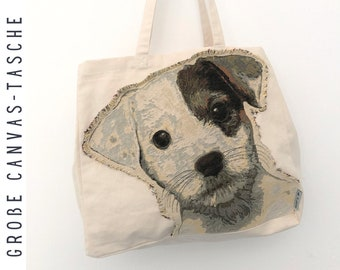 "Large Canvas Bag ""Doggy"" 
