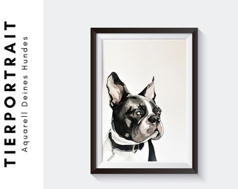 Portrait of Your Dog | Custom Dog Picture | Watercolor Colored Pencil | Drawing | Original | Desired format | customized | Order
