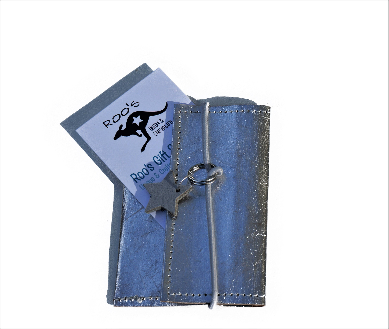 Business Cards Case Silver Washable Paper Pencil Case