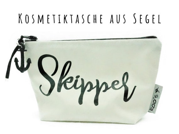 "White cosmetic bag from sail ""Skipper"" 