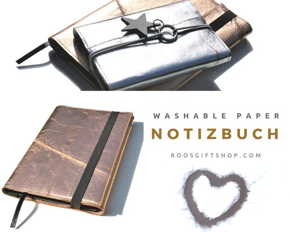 Roségoldenes Notebook | Washable paper | Case A5 Book | Cover Booklet | Travel Diary | Organizer Folder | Diary | Planner | Notebook