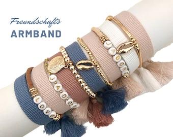 J'ADORE | LOVE | Friendship bracelet | Mother's Day Gift | Web bracelet | woven bracelet | Ibiza | Tassels | unlabelled