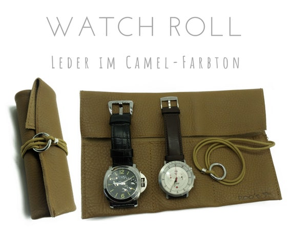Light Brown 3-series Watch Roll leather | Gift for Men | Wristwatches Roll 3 Watches | Travel Watches Storage | Watch Roll | Leather Roll