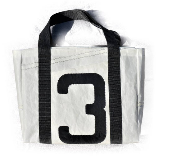 Shoppers | Original Sail Bag | Shopping Bag | Tote Bag | Black and White | upcycling | Sailing bag