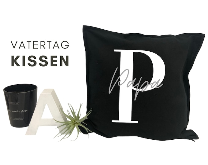 Father's Day Pillow   personalized with name   Pillow cover   Letter   Name cushion   Cushion cover with font   individual gift