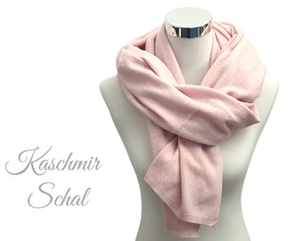 Wide knit scarf | Merino Wool with Cashmere | pink | light knit | Scarf | 130 x 60 cm | Wool scarf | Cashmere | Merino