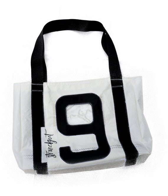 Shopper | Bag made of original sail | Shopping Bag | Tote Bag | black white | Upcycling | sail bag