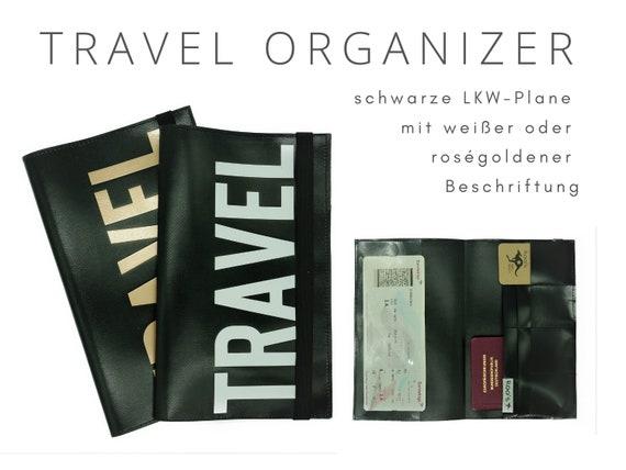 Travel Organizer from truck tarpaulin | Travel Documents Etui | Document folder | Traveler | Reisehülle | Passport Case | portfolio travel case
