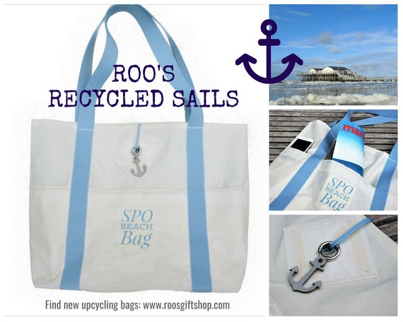 Beach bag | Beach Bag | Original sail | Bath bag | Bag | Upcycling | Sailing bag | SPO | St. Peter Ording