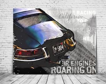 Porsche 911 Art Print | Gift Valentine's Day | Digital Print | Car Poster | Art print | Sports car | Gift for Men | Porsche Bild