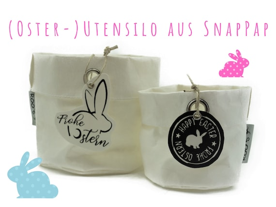 White utensilo Easter baskets from SnapPap | Overpot for herbs | Paper Bag | Washable paper bag | Baskets for jewelry | Easter