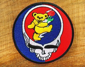 Grateful Dead Iron-on Patch Dead Bears Tour Bus Jerry Garcia Hippy