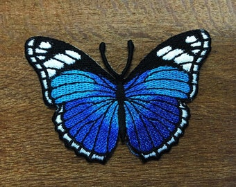eaf45dacba7f New Blue Butterfly insect boho hippie retro love peace applique iron-on  patch