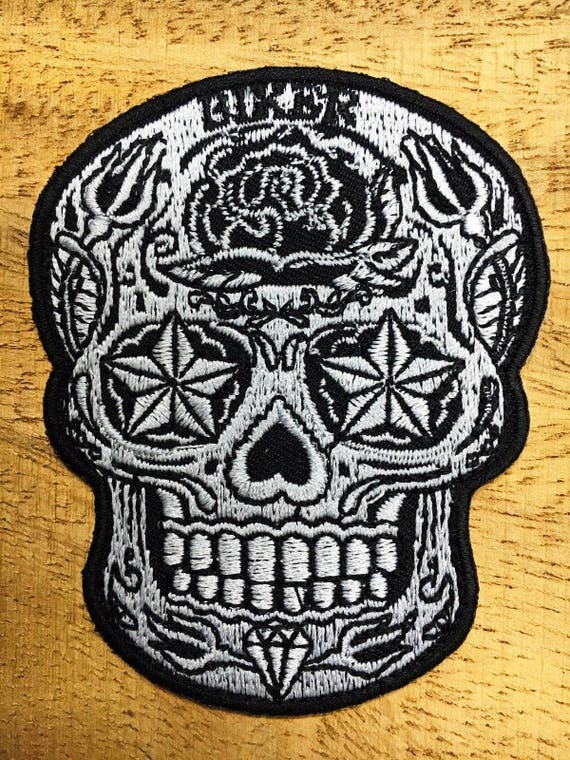 LIVE FREE RIDE Skull Crossbones Star Biker Jacket Embroidered Sew Iron on Patch