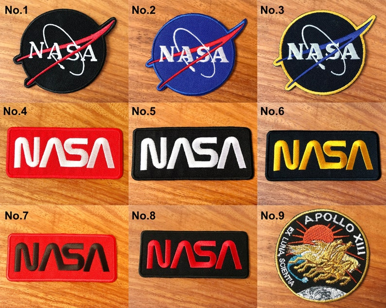 énorme inventaire codes promo convient aux hommes/femmes Nasa patch Apollo XIII patch Logo/iron on patch/Embroidered patch/patch for  jacket Applique Sew on Iron on Patch