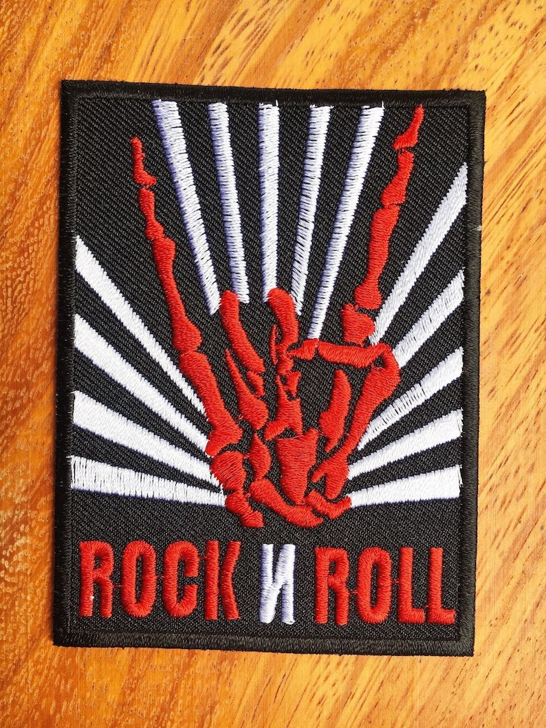 WHITE NUMBER 2 TWO NEW ROCK BIKER LOGO SEW APPLIQUE EMBROIDERED IRON ON PATCH