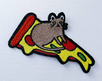 mouse and pizza patch Iron On Patch