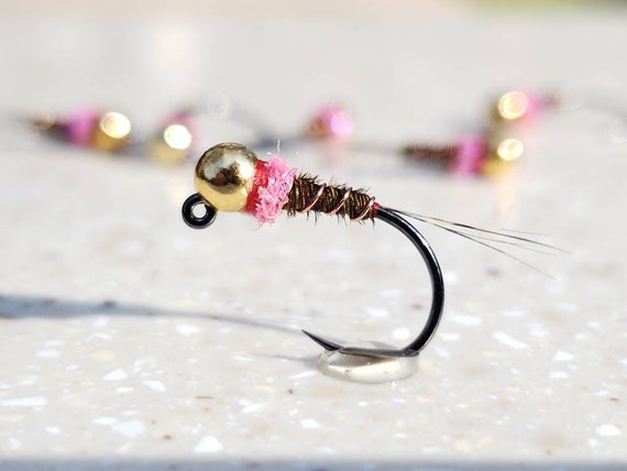 euro nymph Tungsten Jig Frenchie Nymph choose color//size//hook! 6 barbless