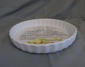 ashley ceramics apple flan dish