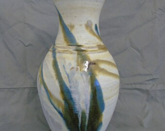 large maxwell cowlin studio pottery vase