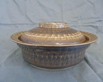 bristow pottery malta, cheese dish/terrine