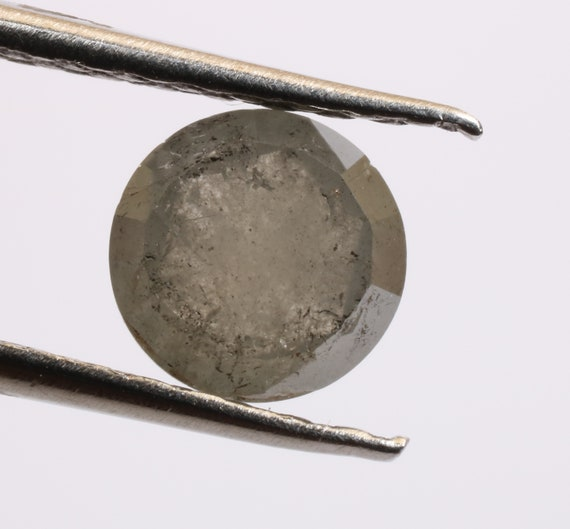 0,94 ct 5,5 mm naturel lâche lâche naturel sel et poivre couleur gris verdâtre belle ronde Rose cut Diamond R2109 d9f145