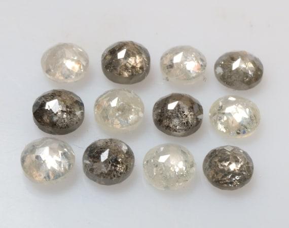 1,81 1,81 1,81 ct 3,0 mm naturel lâche sel et poivre, belle blanc/gris couleur Rose rond coupé 12pcs diamant R2239 9cc590