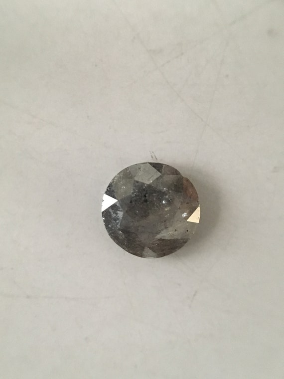 0,56 ct 5,8 mm couleur gris Loose Loose gris naturel sel et poivre Transparent rond forment diamant R555 ef0f42
