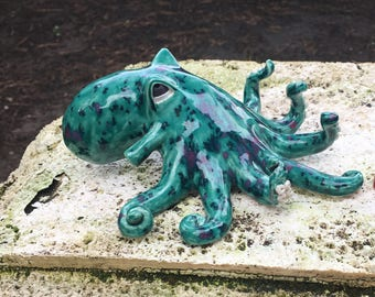 Octopus Sculpture, Octopus Whistle 100% Handcrafted Ceramic