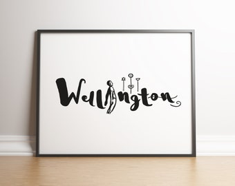 Wellington NZ Print