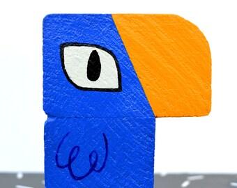 Sky Blue Tucu - Wooden Toucan Ornament