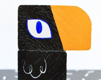 Black Tucu - Wooden Toucan Ornament