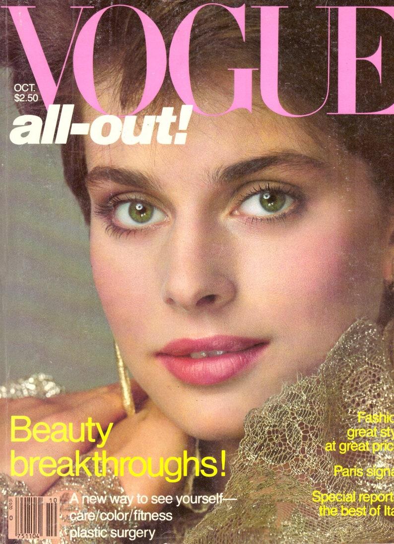 1981 Vogue Fashion Magazine Nastassja Kinski Lilian Gish Royal Wedding  Princess Diana Italy Gia Carangi Nabukov Tolstoy Furs Vintage Ads 80s
