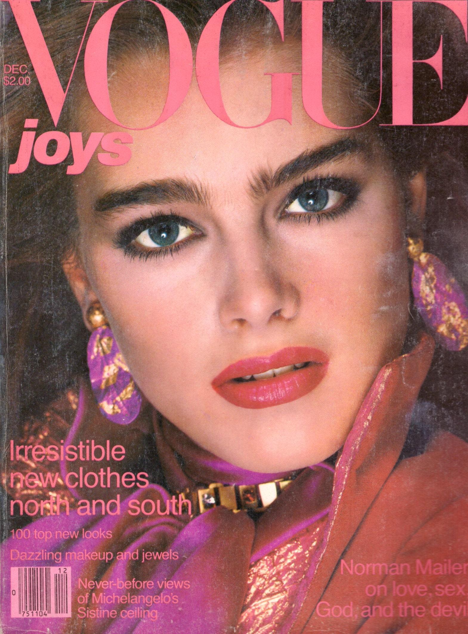 1980 Vogue Fashion Magazine Brooke Shields Kelly Lebrock Diana | Etsy