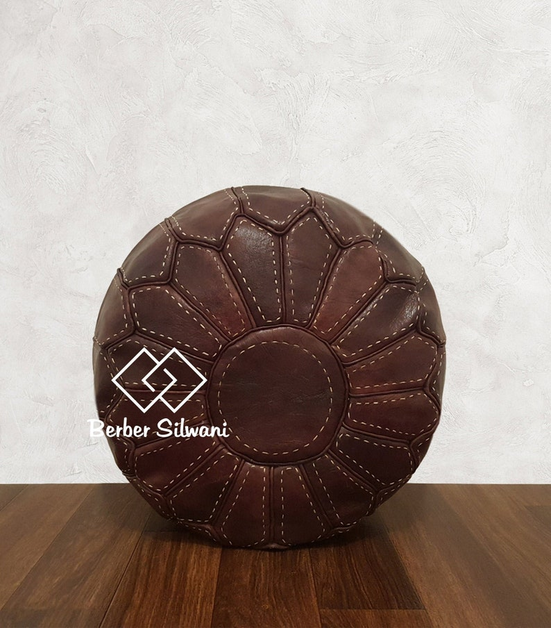 Moroccan Pouf Ottoman Footstool Poof Poufs Moroccan Leather Pouf 31