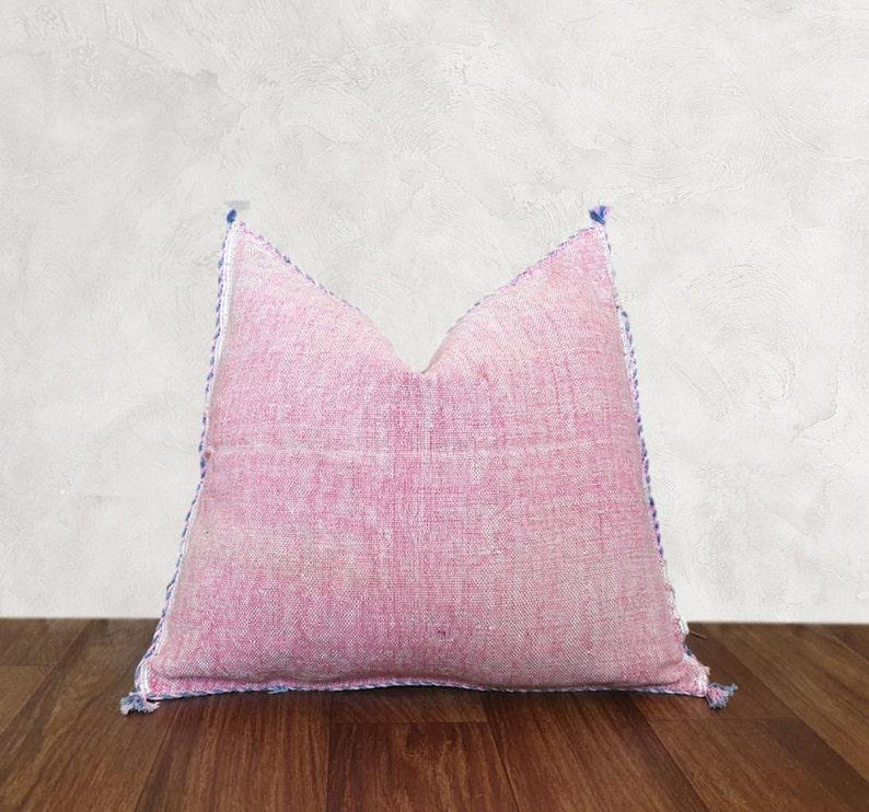 Moroccan Sabra Cactus Silk Pillow Cover Handwoven cactus silk cushions sabra Pillows,41 Decorative Pillows Authentic moroccan pillow
