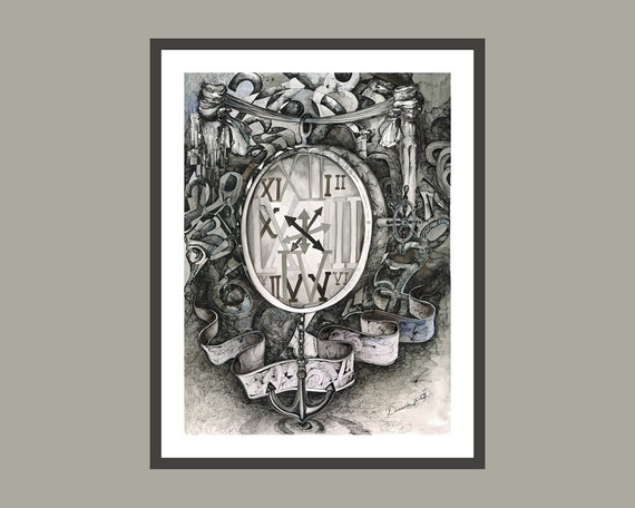 Druck FINE ART  Bild Poster  *ANKER*  Print watercolor Kunstdruck dekorativ