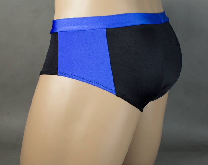 Featured listing image: Wet Look Side Stripe Banded Waist Mens Swimwear Brief Speedo