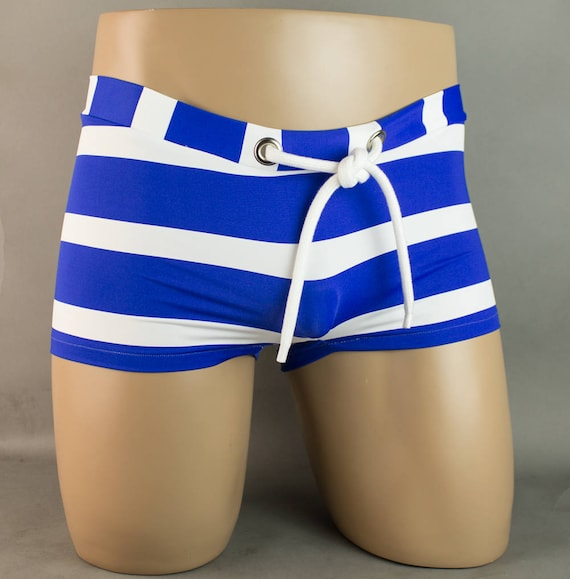 Blue Stripe Drawstring Trunk Brief Speedo Swimwear IkD1ic2zrn