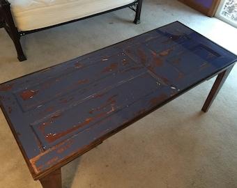 Reclaimed Table Door /  Bohemian Artist Workbench